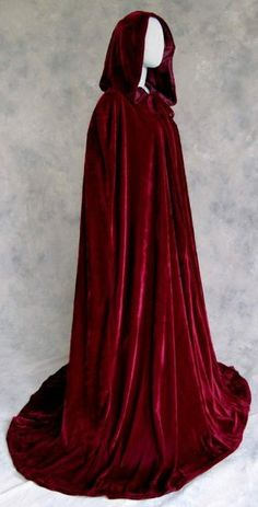 Amazon.com: Artemisia Designs Renaissance Medieval Lined Velvet Cloak Burgundy Wine One Size: Clothing