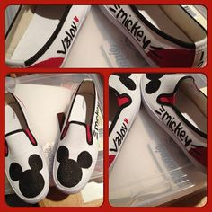 Mickey Mouse custom canvas shoes