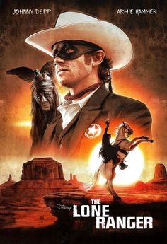 Lone Ranger - Illustrated One Sheet Design by Paul Shipper