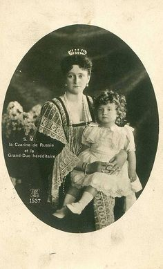 Empress Alexandra and his son, Alexei