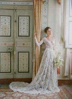Elegant Wedding Gowns, Wedding Gowns With Sleeves, Formal Wedding, Summer Wedding, Fall Wedding Outfits, White Wedding Dresses, French Wedding Dress, Ivory Dresses, Bridal Lace