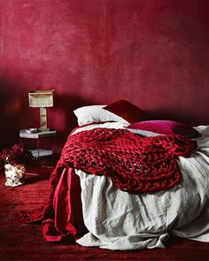 25 Ways To Incorporate Red Into Bedroom Decor. How To Decorate Bedroom For Romantic Night Red Bedroom Decor, Red Home Decor, Bedroom Colors, Red Bedroom Walls, Red Interiors, Colorful Interiors, Red Rooms, Red Walls, Red Accents