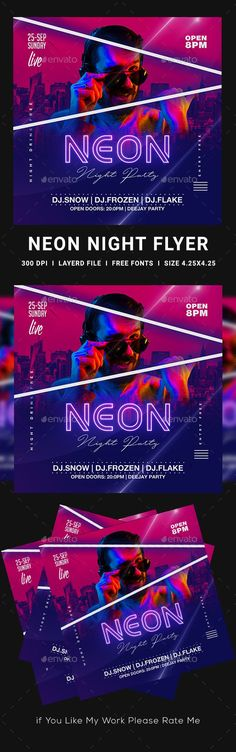 Buy Neon Party Flyer by dhingra on GraphicRiver.