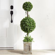 Wilson fisher 35 led lighted topiary tree at big lots for the outdoor faux boxwood double ball 48 topiary workwithnaturefo