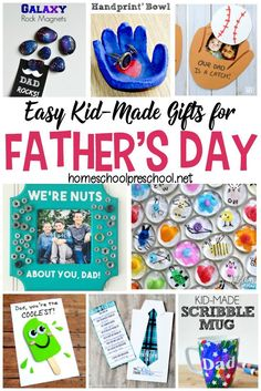 Show Dad some love this Father's Day with one of these simple Fathers Day crafts! Each one will make great preschool Father's Day gifts! #homeschoolprek #preschool #prek