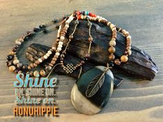 Boho hippie jewelry, native american tribal necklace by HonuHippie on Etsy https://www.etsy.com/listing/258207273/boho-hippie-jewelry-native-american