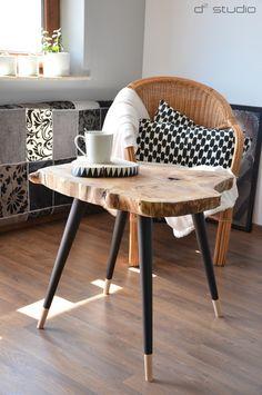 BIG STILL WOOD - black Stolik kawowy Skandynawski w D2 Studio - Drewno dla Twojego domu na DaWanda.com