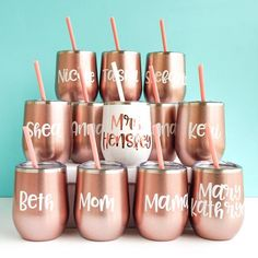 Give the perfect bachelorette accessories to your bridesmaids. This customizable tumbler is the ideal gift that your bridesmaids can use well beyond the bachelorette party. Wedding Favors Cheap, Gifts For Wedding Party, Bridal Shower Favors, Wedding Ideas, Bridal Parties, Wedding Poses, Wedding Favours, Wedding Pictures, Wedding Details