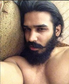 And Nitin Chauhan, too. Indian Hairstyles, Male Models, Close Up, Make It Yourself, Story Ideas, Beards, Hair Styles, Hot, Desi