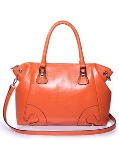 Paillettes sac Hobo Orange forme vachette féminin