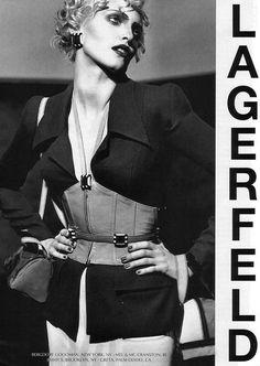 1995 - Karl Lagerfeld adv - Nadja Auermann by Karl Lagerfeld