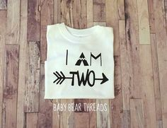 I AM TWO  Second Birthday  Baby Bodysuit  Kid by BabyBearThreads