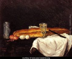 Still Life With Bread And Eggs - Paul Cezanne - www.paul-cezanne.org