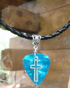 Christian Cross Religious Guitar Pick by CraftyCutiesbyDesign