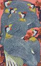 Guinea Fowl by Janet Turner.  I took printmaking classes from Janet Turner when I was at Chico.  I was very lucky to take classes with her.  I don't think I fully appreciated the opportunity at the time.  She was quite a lady.