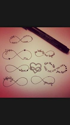 Different infinity tattoos