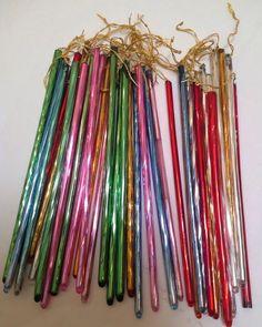 "34 Antique Vintage 6"" Multi Color Mercury Glass Christmas Ornament Spike Icicles $308.50"
