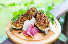 This is really two recipes in one post. The stuffed aubergine and the stuffed marrow, both using the same veal mince and vegetables mixture. Easy and tasty. Stuffed Marrow, Salmon Burgers, Avocado Toast, Bacon, Tasty, Vegetables, Breakfast, Ethnic Recipes, Food