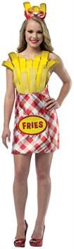 PartyBell.com - French Fries Dress Adult Costume