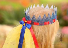 Beautiful Snow White Princess Crown by HushaByeCreations on Etsy, $28.00