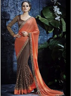 This saree promises a mesmerising appearance and will win your heart at the very first glance.The fabulous pattern makes this colored saree a classy number to be included in your wardrobe