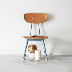 vintage child school chair no 1 by AMradio on Etsy, $52.00