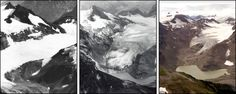 EXHIBIT   Climate Warming Is a Global Problem; In this exhibition the National Academies provide scientific information to help us make informed decisions and to help answer some important questions: Is The Climate Warming? Are Humans Causing Climate Warming? What Effects Might Climate Warming Have? What Should Be Done About Climate Warming?(Photos of South Cascade Glacier, Washington in 1928, 1979, and 2003)