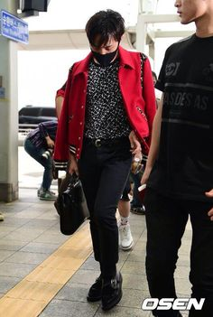 """GD Incheon International Airport to France to attend the """"Saint Laurent"""" collection 140628"""