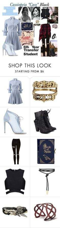 """""""Cassiopeia """"Cass"""" Black"""" by argboo on Polyvore featuring Michael Kors, Vintage, Chloe Gosselin, Topshop, Charlotte Olympia, Posh Girl and Hot Topic"""