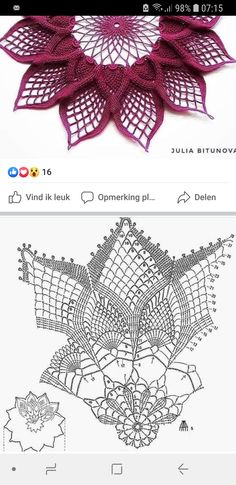 Crochet Doily Rug, Crochet Doily Diagram, Crochet Dollies, Crochet Leaves, Crochet Cushions, Crochet Doily Patterns, Crochet Tablecloth, Thread Crochet, Crochet Designs