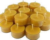 Beeswax Tea Light TeaLights Wholesale by CandleBakeryCandles
