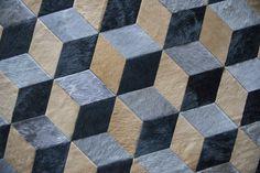 Custom Illusion rug #cowhide #illusion