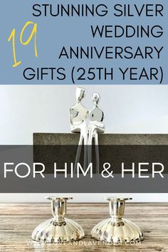 19 Stunning Silver Wedding Anniversary Gifts (25th Year) for Him & Her | The 25th wedding anniversary is a massive milestone and celebrating is a must! Whether you're planning a once-in-a-lifetime trip or something closer to home, we've hunted down some gorgeous gifts to make the day even more memorable | Click on the image to see all our gift ideas and inspiration Love & Lavender 25 Wedding Anniversary Gifts, 1st Anniversary, Wedding Gifts, Presents For Your Boyfriend, Silver Gifts, Couple Gifts, Closer, Lavender, How To Memorize Things