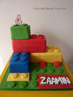 Zaamin's Lego Cake by Taylor Made Treats, via Flickr