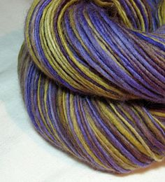 Handspun Yarn Gently Thick and Thin Single by SheepingBeauty, $32.00