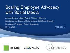 Employee Advocacy through Social Media: by Expion via Slideshare