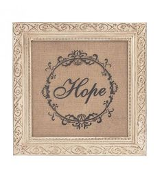 WOODEN WALL DECO ' HOPE' 30X2X30