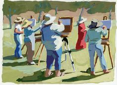 See Peggi Kroll Roberts' available gouache paintings here.