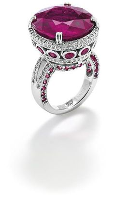 A rubellite tourmaline and diamond ring, by Ander's.