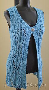 Farmers Market Vest pattern by SweaterBabe – Harika El işleri-Hobiler Lace Knitting, Baby Knitting Patterns, Knit Crochet, Crochet Baby, Sweater Refashion, Vest Pattern, Hand Knitted Sweaters, Farmers Market, Clothes