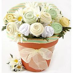 Nikkis Nikki's Baby Blossom Clothing Gift Bouquet - Neutral, Terra Cotta