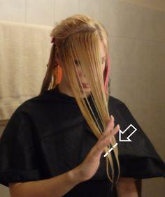 Do it yourself Stufenschnitt für lange Haare 5