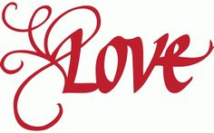 Silhouette Online Store - View Design #55227: love with a flourish – italic calligraphy