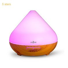 (Rating: 5 stars) #1: Essential Oil Diffuser Anjou 300ml Aromatherapy Diffusers Ultrasonic Aroma Humidifier ( Up to 8H Use Mist Control Waterless Auto Shut-Off 4 Timer Settings 7 Color LED Lights )  Light Grain This has a rating of above 4 stars and remains among the most popular items bought online in Kitchen  category. Click below to see its Availability and Price in your country.