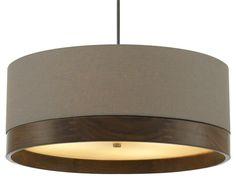 Topo Drum Pendant Gray Antique Bronze from Premium Home Interior