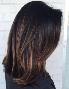 Dark brunette with caramel ombré