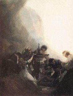 Bandidos fusilando a sus prisioneras ó Asalto de bandidos I, 1800-14