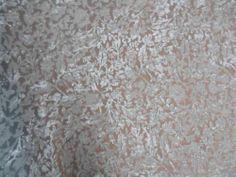 Polyester Viscose Burnout Ivory Cream Devore Velvet Fabric | eBay