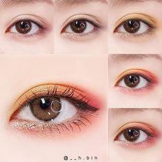 Pin by Sakura Rin on 化粧 in 2020 Makeup Goals, Makeup Inspo, Makeup Art, Makeup Inspiration, Kawaii Makeup, Cute Makeup, Pretty Makeup, Korean Eye Makeup, Asian Makeup