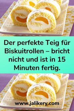 Ingredients: For the dough: 6 pieces of eggs 120 g sugar 90 g flour To fill: a cream .Eier 120 gZucker 90 gMehl Zum Füllen: eine Creme … Ingredients: For the dough: 6 pieces of eggs 120 g sugar 90 g flour … - Easy Vanilla Cake Recipe, Chocolate Cake Recipe Easy, Chocolate Recipes, Food Cakes, Easy Cookie Recipes, Dessert Recipes, Lemon Desserts, New Cake, Cake Mix Cookies